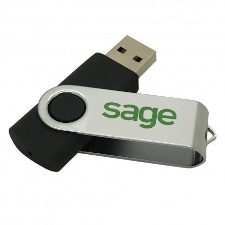 BLACK USB KEY 8GO