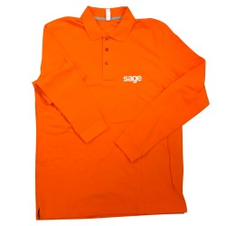 POLO MANCHES LONGUES ORANGE TAILLE M