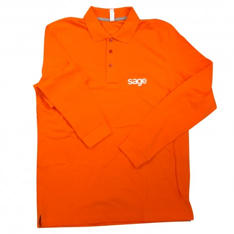 LONG SLEEVE POLO SHIRT SIZE M