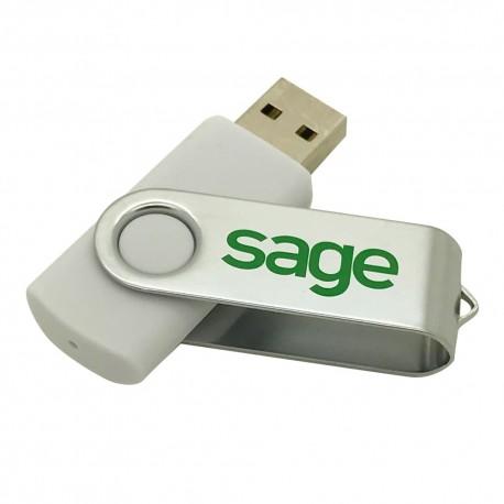 WHITE USB KEY 4GO